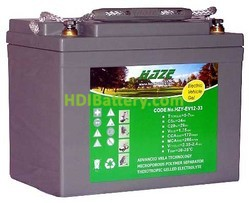 Batería para moto eléctrica 12v 33ah Gel HZY-EV12-33 HAZE